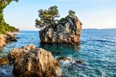 Brela rock, Croatia. Brela Rock, Punta Rata Beach, Makarska Riviera, Croatia royalty free stock photography
