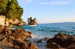Brela rock, Croatia. Brela Rock, Punta Rata Beach, Makarska Riviera, Croatia royalty free stock image