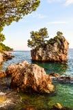 Brela rock, Croatia. Brela Rock, Punta Rata Beach, Makarska Riviera, Croatia royalty free stock images