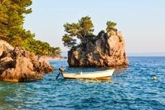 Brela rock, Croatia. Brela Rock, Punta Rata Beach, Makarska Riviera, Croatia stock photos