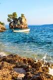 Brela rock, Croatia. Brela Rock, Punta Rata Beach, Makarska Riviera, Croatia stock images