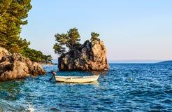 Brela rock, Croatia. Brela Rock, Punta Rata Beach, Makarska Riviera, Croatia stock photography