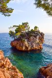 Brela rock, Croatia stock images