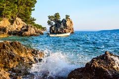 Brela rock, Croatia. Brela Rock, Punta Rata Beach, Makarska Riviera, Croatia stock image