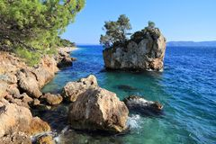Brela strand, Kroatien Royaltyfri Fotografi