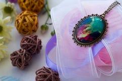 Breloczek dekorujący z koronkami Fotografia Royalty Free