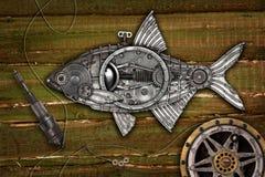 Brema dos peixes do estilo de Steampunk Fotos de Stock Royalty Free