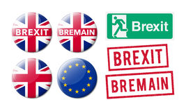 Bremain Brexit Stock Photography