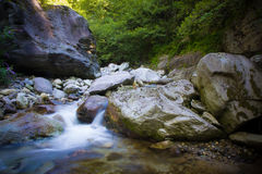 Brembo flod Royaltyfri Fotografi