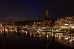 Bremen bij nacht Royalty-vrije Stock Foto