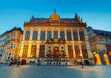 Bremen. The central market square. Chamber of Commerce. Stock Image