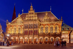 Bremen. The central market square. Town Hall. Royalty Free Stock Photography