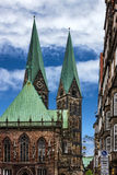 Bremen church, Germany. Cathedral Bremer Sankt Petri Dom Royalty Free Stock Image