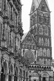 Bremen city hall bas relief family shield in black and white Royalty Free Stock Photo