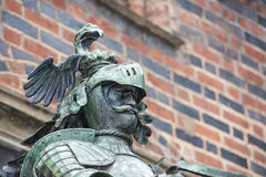 Bremen city hall statue Royalty Free Stock Photography