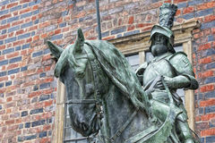 Bremen city hall statue Royalty Free Stock Photos