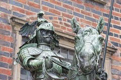 Bremen city hall statue Royalty Free Stock Photo