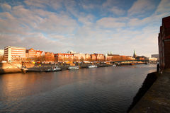 Bremen cityscape before sunset Royalty Free Stock Images