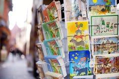 BREMEN, DEUTSCHLAND - 23. MÄRZ 2013: Verschiedene Postkarten von Bremen Lizenzfreies Stockbild