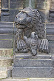 Bremen dome statue lion Royalty Free Stock Photo