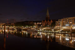 Bremen en la noche Foto de archivo libre de regalías