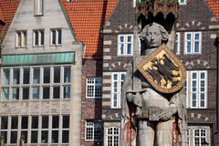 Bremen, Germany. The Statue of Roland in the Free Hanseatic City of Bremen Royalty Free Stock Photo