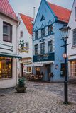 Bremen, Germany, January, 2019 - Colorful houses in historic Schnoorviertel in Bremen, Germany stock photography