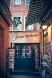 Bremen, Germany, January, 2019 - Colorful houses in historic Schnoorviertel in Bremen, Germany stock photos