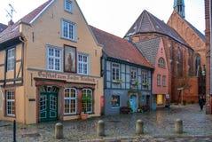 bremen Germany 19 2017 Nov Uliczny Schnoor w starej ćwiartce w Bremen fotografia royalty free