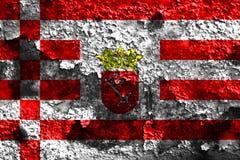 Bremen grunge flag, Northern Germany.  Stock Photography