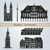 Bremen landmarks and monuments Stock Photo