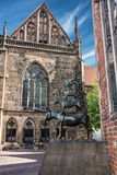 Bremen musicians monument. Germany Die Bremer Stadtmusikanten.  royalty free stock image