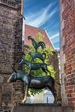 Bremen musicians sculpture, Bremen, Germany.  royalty free stock photo