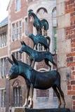 Bremen muzyków Grodzka statua Obraz Royalty Free