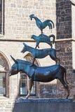 Bremen muzyków Grodzka statua Zdjęcie Royalty Free