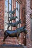 Bremen muzyków Grodzka statua Zdjęcia Stock