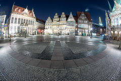 Bremen old town night view Royalty Free Stock Image