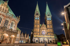 Bremen old town night view Stock Image
