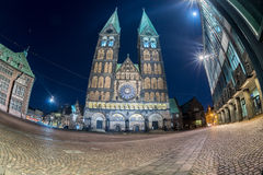Bremen old town night view Royalty Free Stock Photo