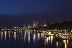 Bremen Schlachte at night royalty free stock photography