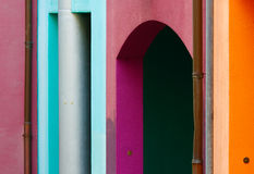 Bremen,Schnoor. Multi-colored walls of the buildings in Bremen,shallow focus Royalty Free Stock Photography