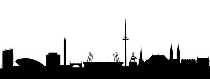 Bremen Silhouette black Royalty Free Stock Photography