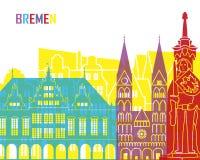 Bremen skyline pop Royalty Free Stock Images