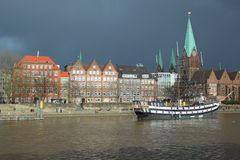 Bremen before storm Royalty Free Stock Photography