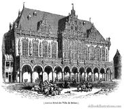Bremen Town Hall Royalty Free Stock Images
