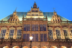 Bremen town hall by night Royalty Free Stock Photography