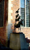 The Bremen Town Musicians. Digital photo of the bremen town musicians from a fairy story of the brothers Grimm Stock Image