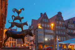 The Bremen Town Musicians in Bremen, Germany Stock Photos