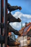 The Bremen town musicians in old Riga Royalty Free Stock Photo