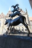 Bremen Town Musicians Statue. The statue of the Town Musicians of Bremen, Germany Stock Photography